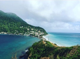 Where the Caribbean Sea and the Atlantic Ocean meet #scottshead #dominica