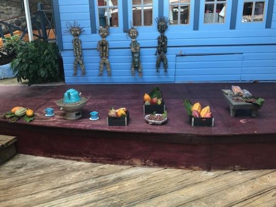 Cocoa Display at Breeakfast