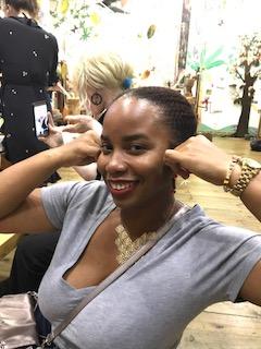 'Fitting' my Cocoa Earrings hehehe