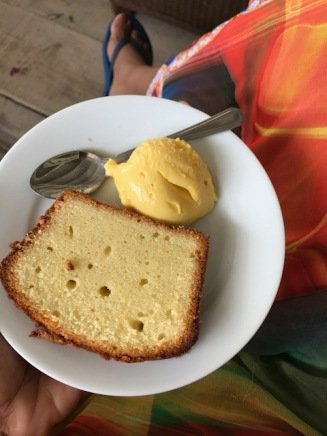 Custard and Cake. This was Delish