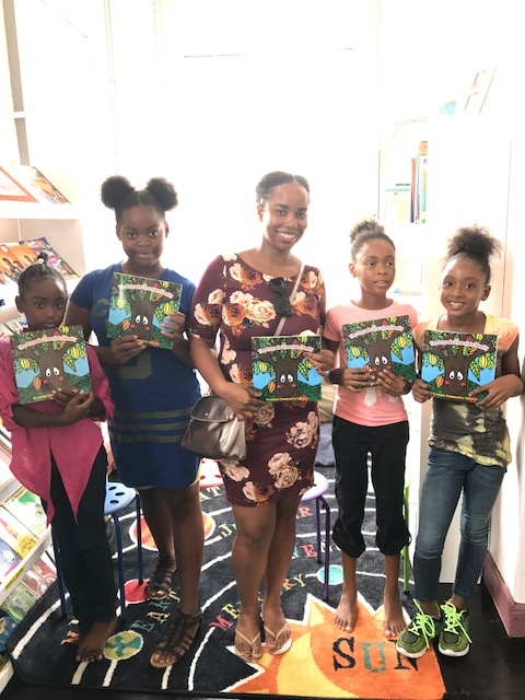 Meeting the children who helped write the book called 'The Grenada Chocolate Family'
